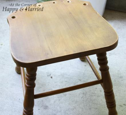 Blue Stool Makeover