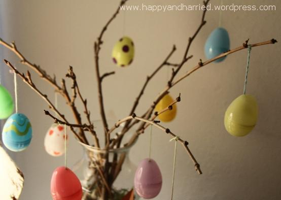 Easter egg tree at the corner of happy and harried How to make an easter egg tree