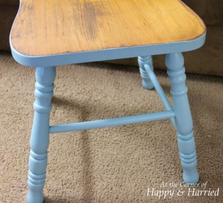 Blue Stool Makeover 3