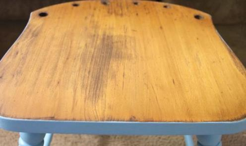 Blue Stool Makeover 7