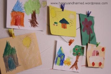 Kids Artwork Display Wall 5