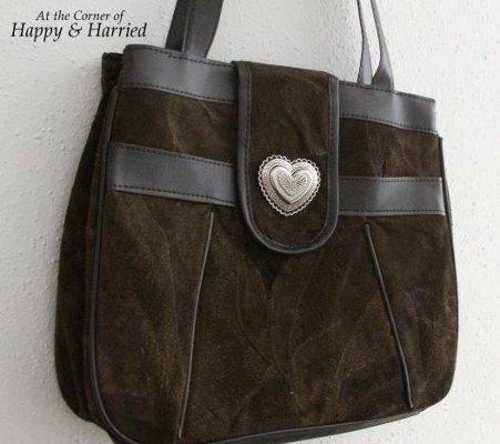 Handbag Makeover With Fabric 1