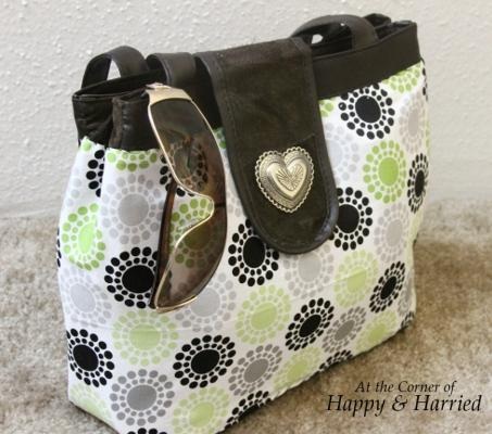 Handbag Makeover With Fabric 7