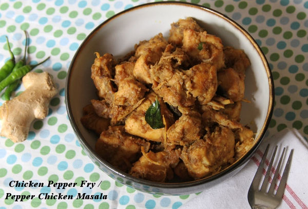Indian Chicken Pepper Fry / Pepper Chicken Masala | At the Corner of ...
