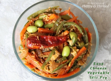 Easy Chinese Vegetable Stir Fry with Edamame