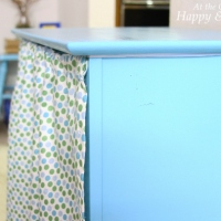 'Good Enough' Re-purposed Table With Curtain