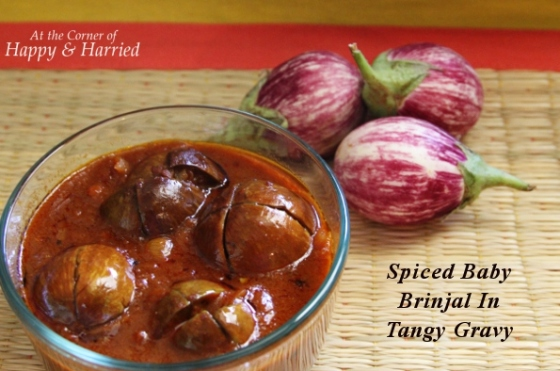 Spiced Baby Brinjal in Tangy Gravy