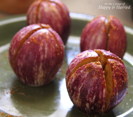 Spiced Baby Brinjal