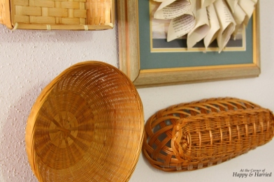 Close up of Basket Wall Hanging