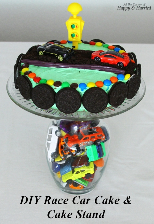 DIY Race Car Cake & Cake Stand
