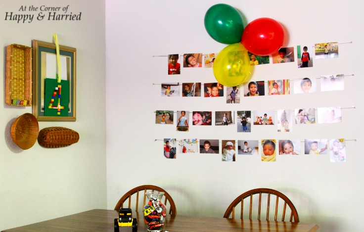 Simple Birthday Decoration On Wall : Simple birthday party decor at the corner of happy and