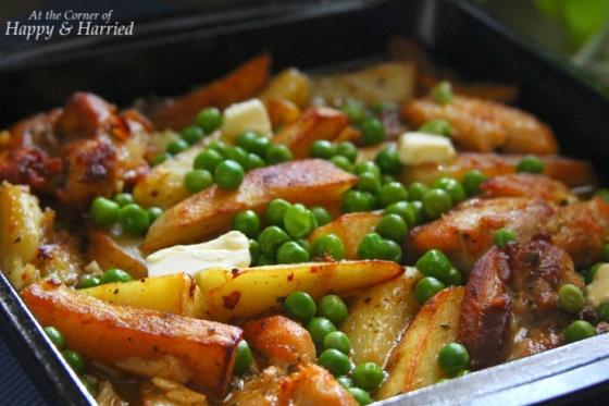 Chicken Vesuvio With Peas
