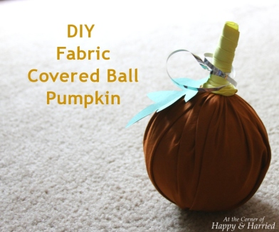 Fabric Covered Ball Pumpkin