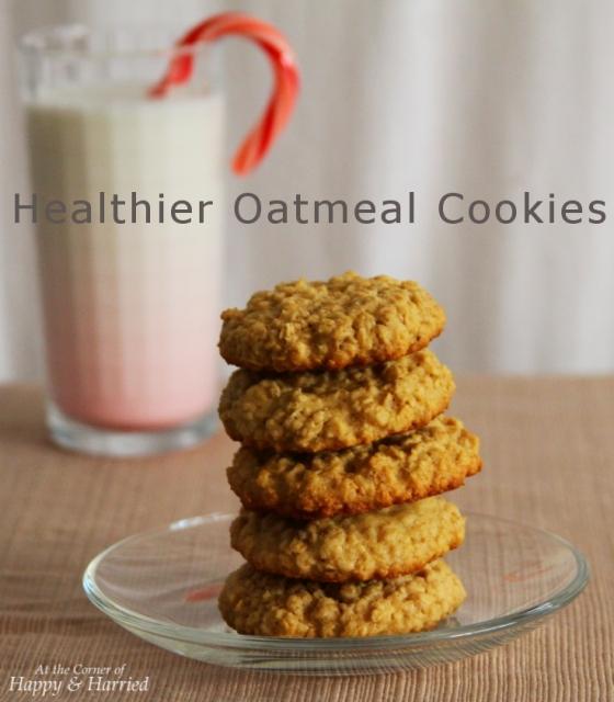 Healthier Oatmeal Cookies
