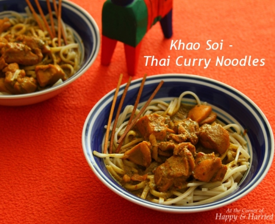 Khao Soi - Thai Noodles With Spicy Chicken Curry Sauce