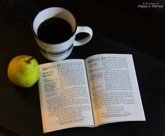 Morning Coffee, Fruit and Reading
