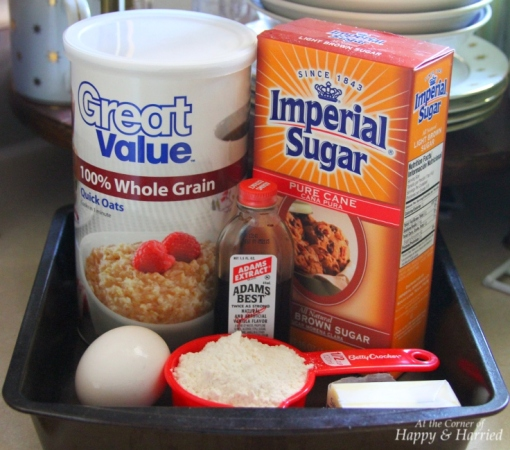 Oatmeal Cookies Ingredients