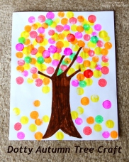 Dotty Autumn Tree Craft