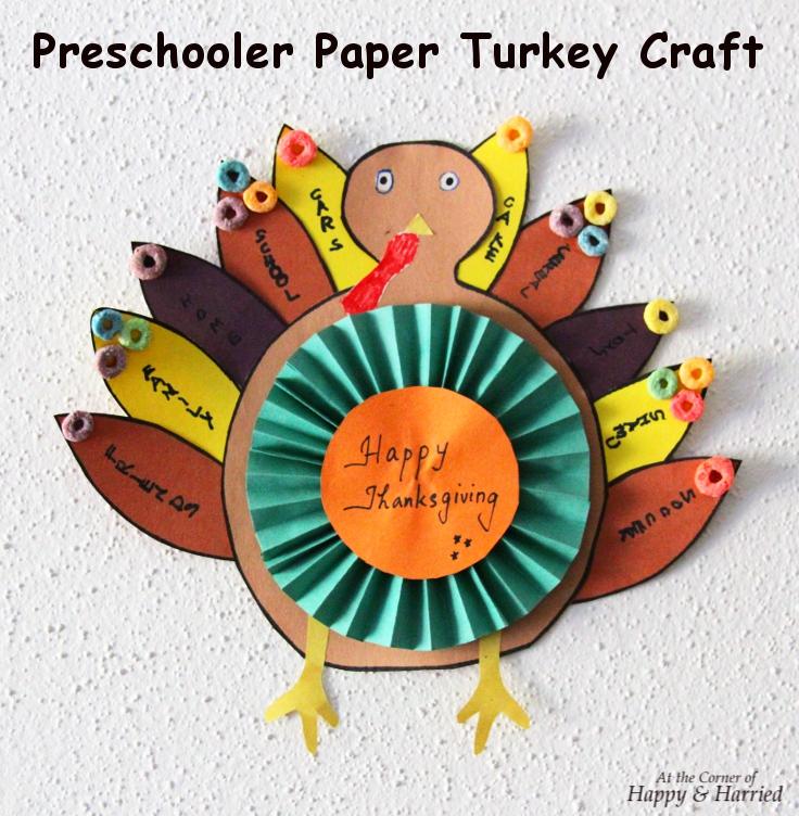 Thanksgiving Paper Turkeys Craft