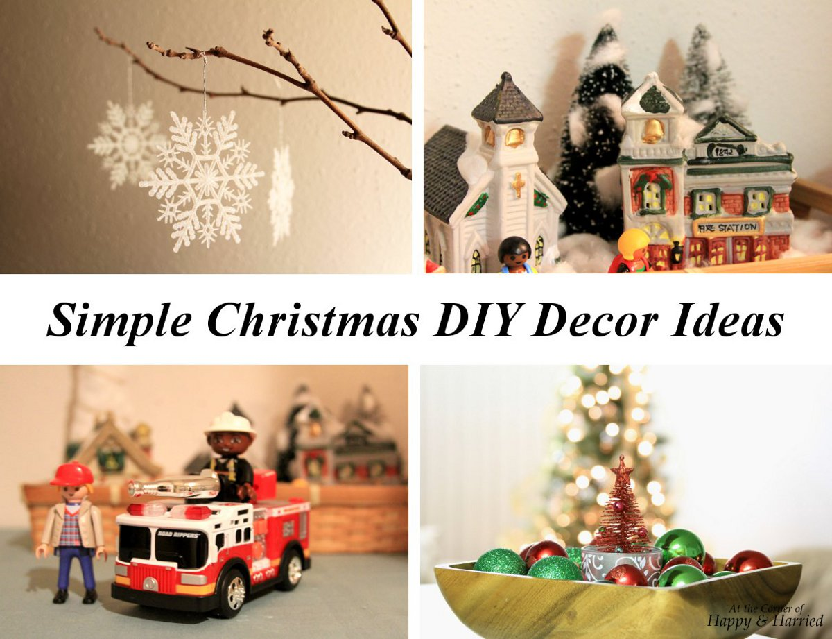 Simple diy christmas decor ideas at the corner of happy for Simple home decor for christmas