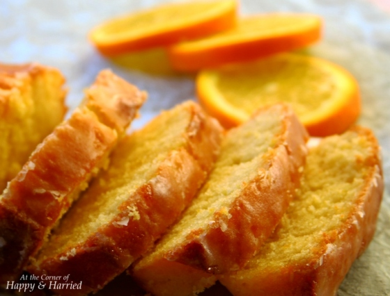 Sunny Orange Pound Cake With Orange Syrup & Glaze