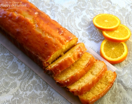 Sunny Orange Pound Cake Loaf | At the Corner of Happy and Harried