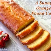 A Sunny Orange Pound Cake Loaf