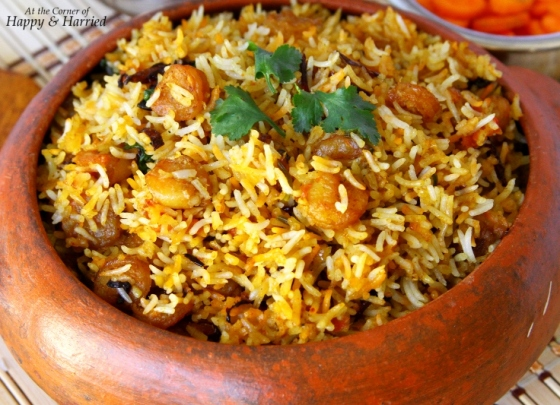 Shrimp (Prawns) Dum Biryani | At the Corner of Happy and Harried