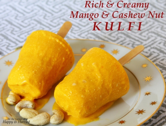 Mango And Cashew Nut Kulfi (Indian Frozen Milk Dessert) | At the ...