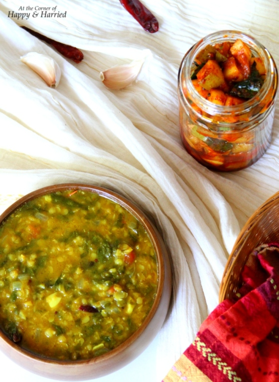 Dal-Palak (Lentil-Spinach Curry)