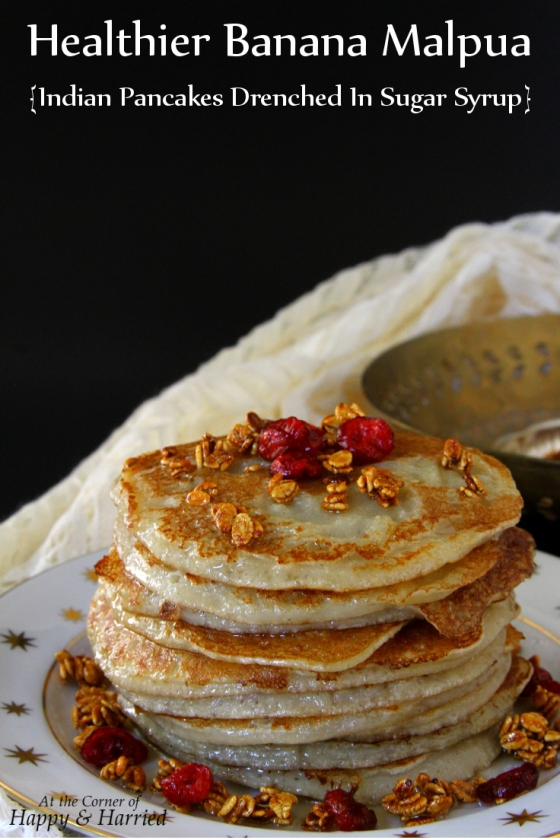 Banana Malpua - Indian Pancakes In Sugar Syrup