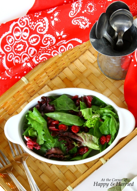 Fresh Greens & Dried Cranberries Salad