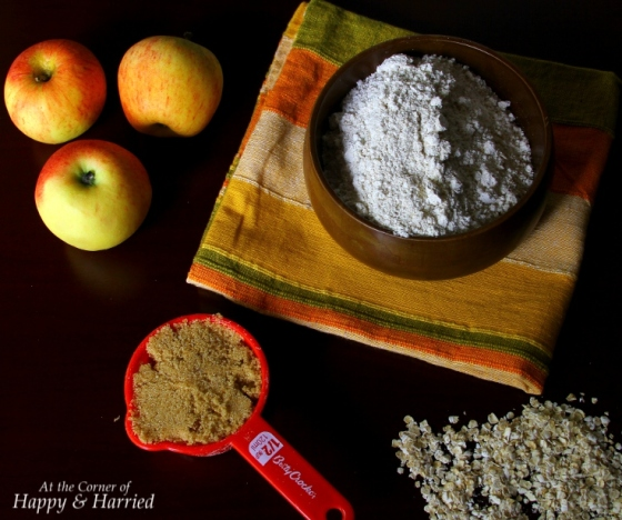 Ingredients For Apple Oat Flour Muffins