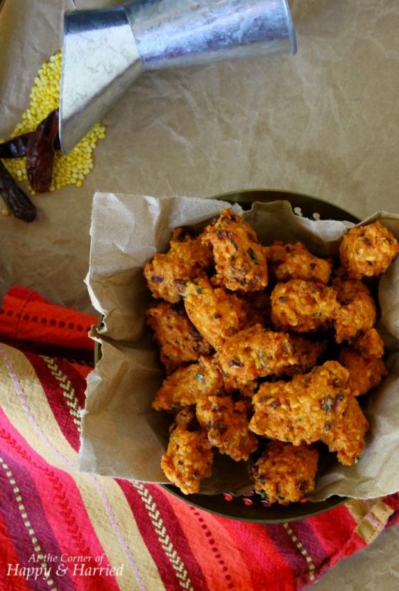 Moon Dal Vada (Bengal Gram Lentil Fritters)