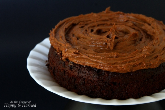 Naked Chocolate Cake With Chocolate Frosting