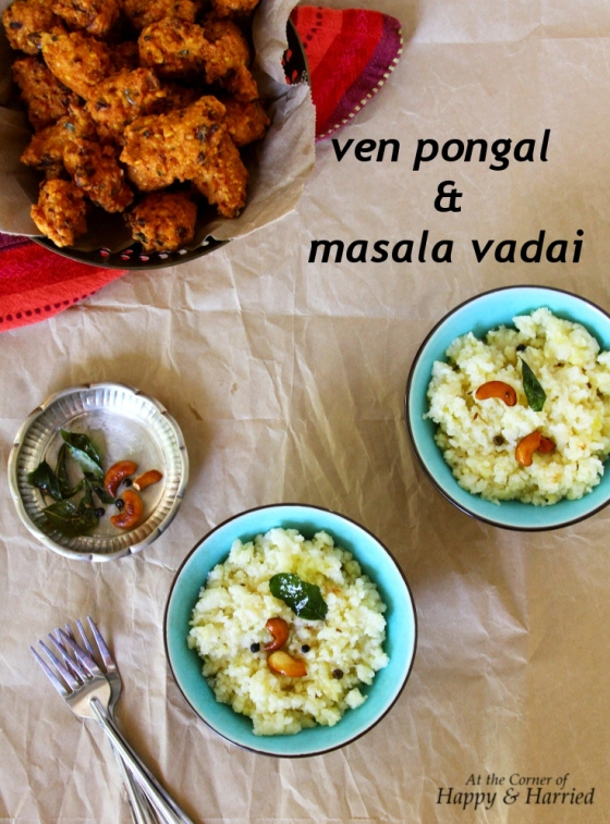 ven pongal and masala vadai