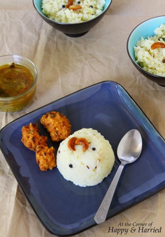 Ven Pongal With Sambar & Dal Vada