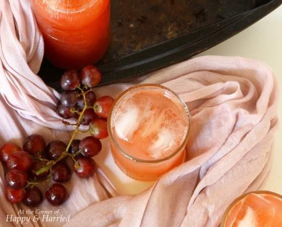 angoor ka sharbat { spice infused red grapes juice}