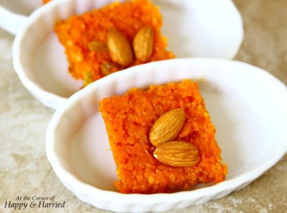 Carrot Barfi or Sweet Carrot Bars (Indian Dessert)