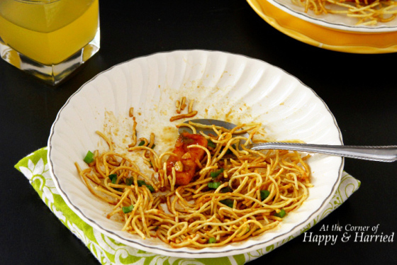 Crispy Fried Noodles & Spicy A Tofu Stir Fry