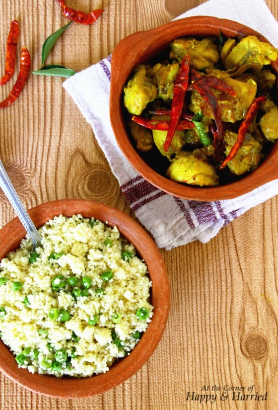 Green Peas Couscous & Spicy Kongunadu Chicken