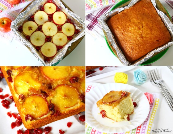 How To Bake An Upside Down Apple & Cranberry Cake