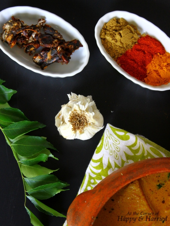 Ingredients for Kerala Fish Curry In Coconut Milk