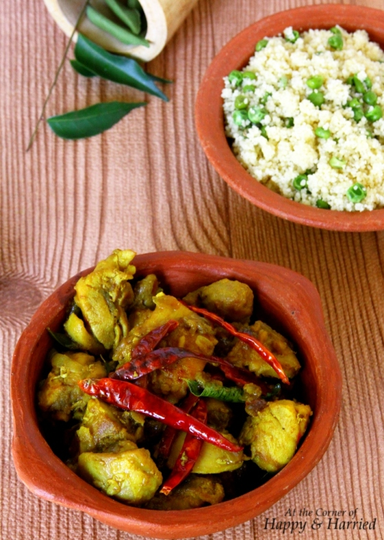 Kongunadu Chicken - A Spicy Chicken Dish With Red Chilies, Curry Leaves, Ginger & Turmeric