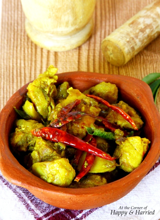 Kongunadu Chicken - A Spicy Chicken Dish With Red Chilies, Ginger & Turmeric
