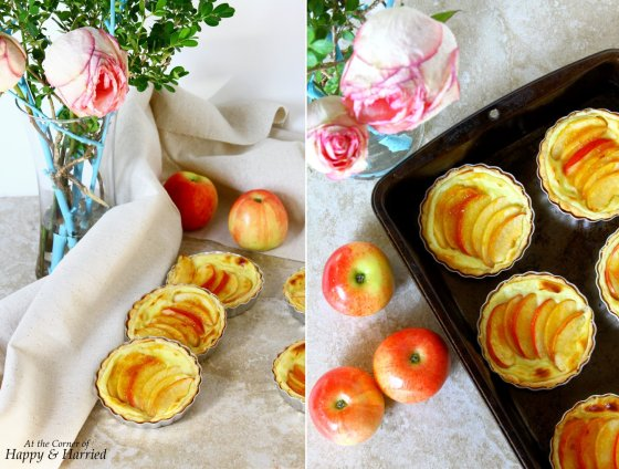 Mini Apple Tarts With A Flaky Crust & Pastry Cream
