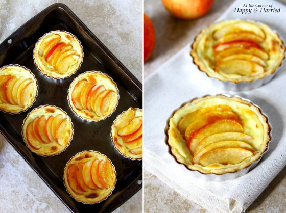 Pastry Cream Filled Mini Apple Tarts