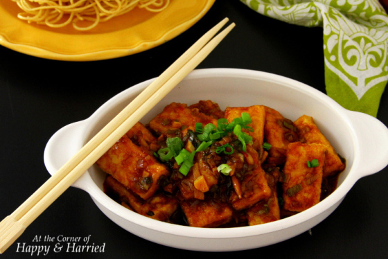Tofu In A Spicy Chili-Garlic Sauce