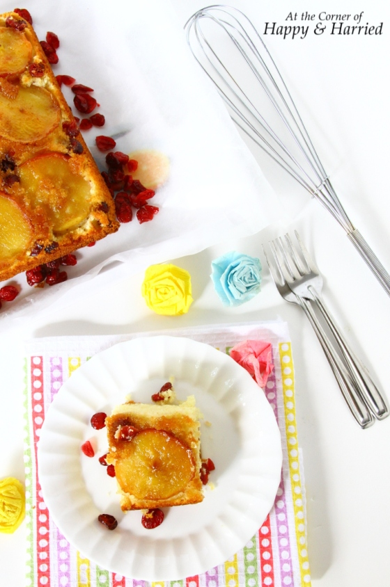 Upside Down Apple & Cranberry Cake