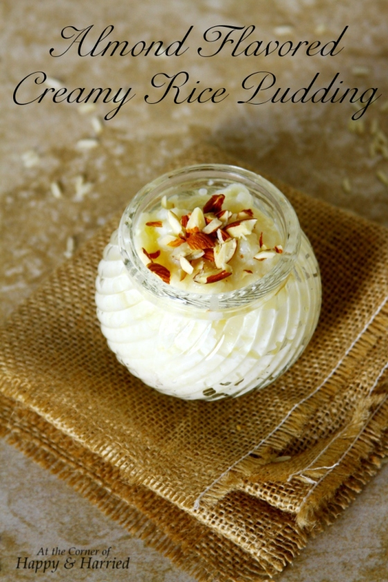Almond Flavored Rice Pudding